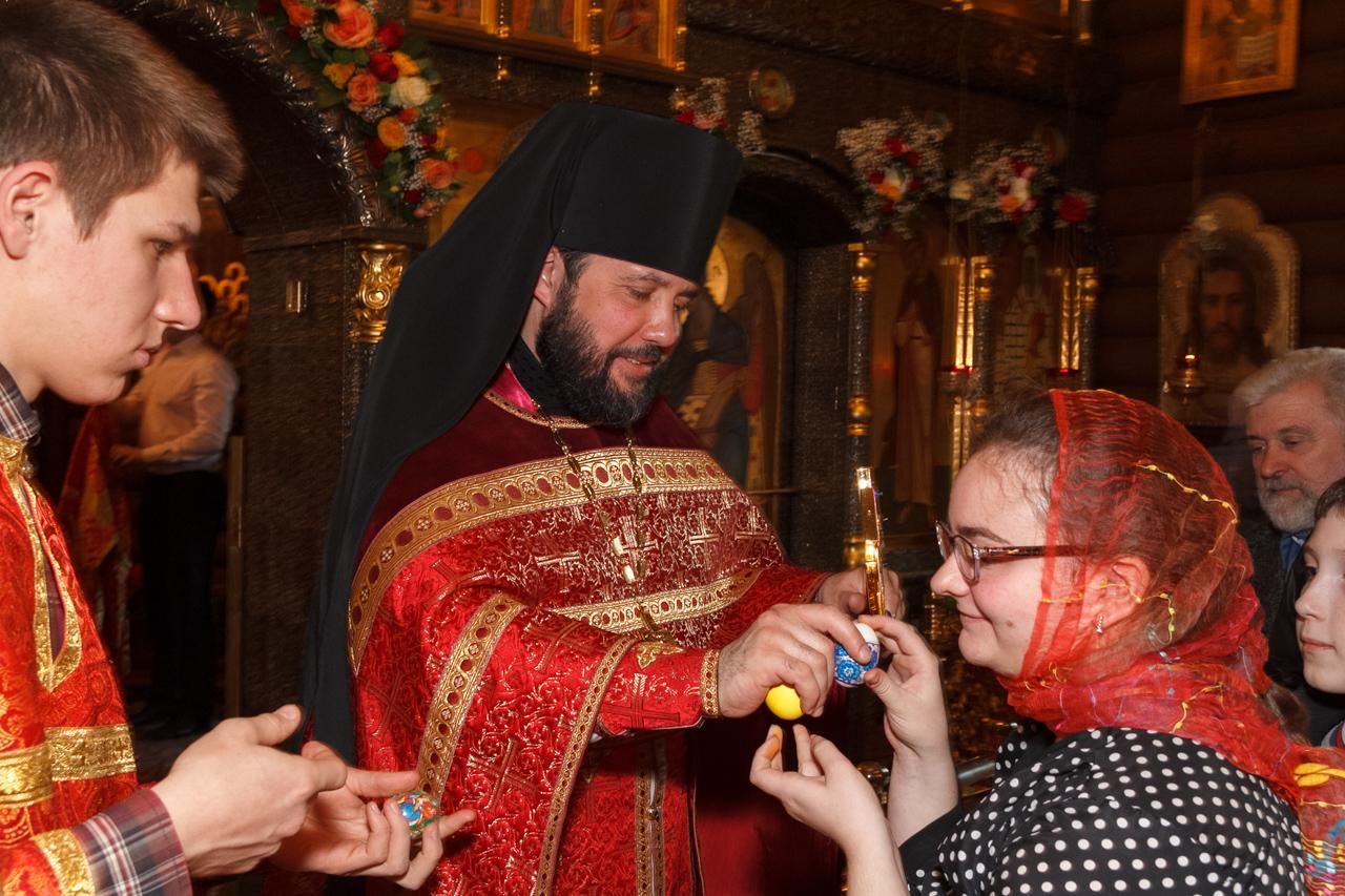 Христосование с духовенством